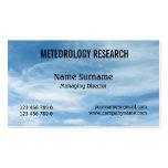El nephology de la nube del meteorólogo PERSONALIZ Tarjeta De Visita