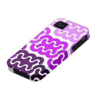 """El """"neumático púrpura sigue"""" la caja del iPhone 4 iPhone 4 Fundas"""