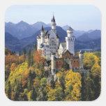 El Neuschwanstein imaginario es uno de tres Calcomanías Cuadradas