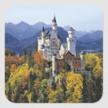 El Neuschwanstein imaginario es uno de tres Pegatina Cuadrada