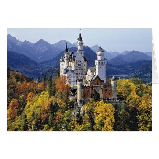El Neuschwanstein imaginario es uno de tres Tarjeta De Felicitación