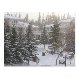 El nevar en las aguas termales de Fairmont Tarjetas Postales