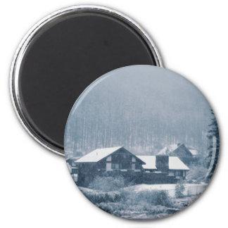 El nevar en los imanes de Aspen Imán Redondo 5 Cm