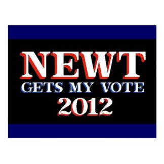 El Newt consigue mi voto Postal
