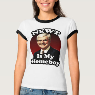 El Newt es mi Homeboy, Gingrich divertido político Playeras
