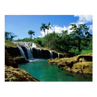 El Nicho Falls, Cuba Postcard
