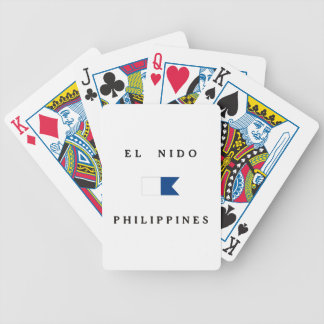El Nido Philippines Alpha Dive Flag Bicycle Playing Cards