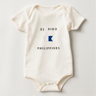 El Nido Philippines Alpha Dive Flag Romper