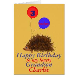 El nieto del cumpleaños del dibujo animado del tarjetas