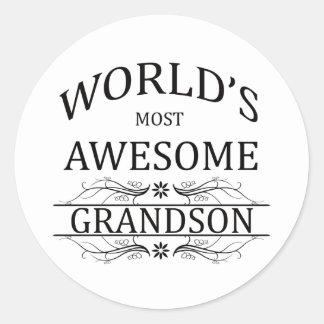 El nieto más impresionante del mundo pegatina redonda