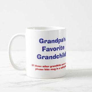 ¡El nieto preferido del abuelo! Taza De Café