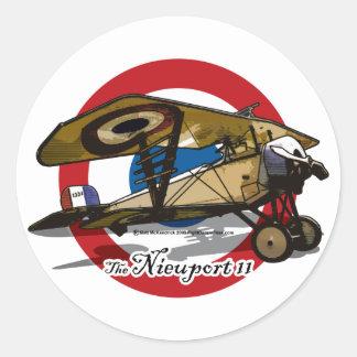 El Nieuport 11 Pegatina Redonda