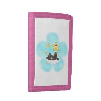 El nilón azul del oso de la flor embroma la carter