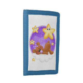 El nilón rojizo púrpura del oso embroma la cartera