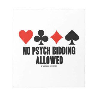 El ningún hacer una oferta de Psych permitido Blocs De Papel