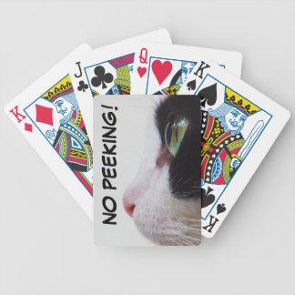 "El ""ningún mirar a escondidas!"" naipes baraja de cartas"