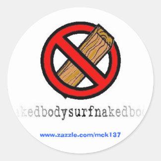 El ningún pegatina del tablero de la ropa de BSN