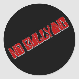 El ningún tiranizar pegatina redonda