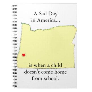 El niño americano del día triste no viene la libro de apuntes