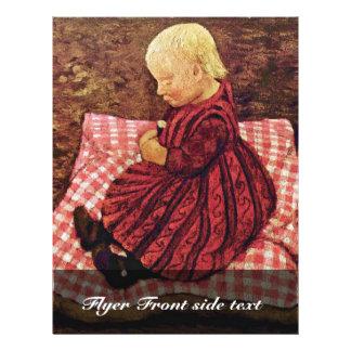 """El niño de Bauer en las almohadas Rojo-Comprobadas Folleto 8.5"""" X 11"""""""