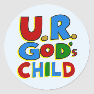 El niño de dios pegatina redonda