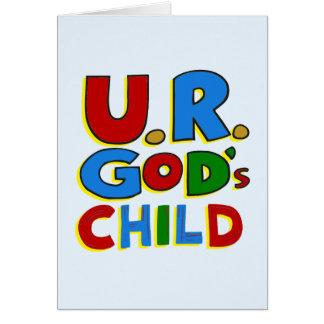 El niño de dios tarjeton