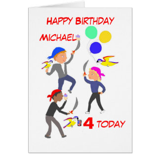 El niño de la tarjeta de cumpleaños añade la edad