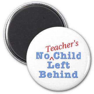 El niño de ningún profesor dejado detrás imán redondo 5 cm