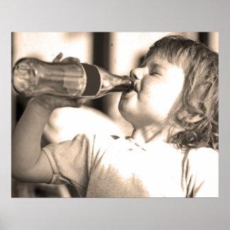 El niño/el niño bebe en el Sun (2) Poster