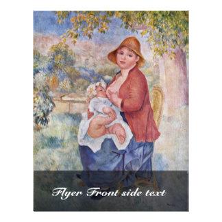 """El niño en el pecho (maternidad), folleto 8.5"""" x 11"""""""