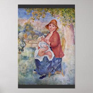 El niño en el pecho (maternidad), póster