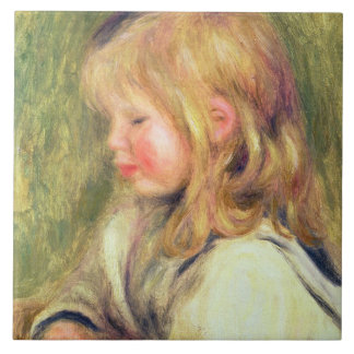 El niño en una camisa blanca Reading, 1905 (aceite Azulejo Cuadrado Grande