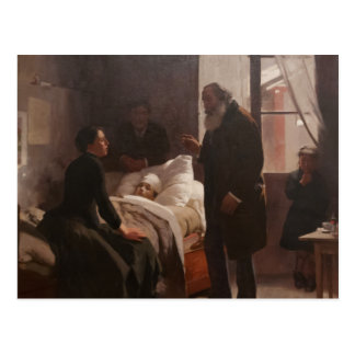 El Niño enfermo by Arturo Michelena 1886 Postcard