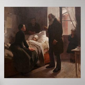 El Niño Enfermo by Arturo Michelena 1886 Poster