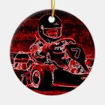 ¡El niño Karts está candente! Ornamentos Para Reyes Magos