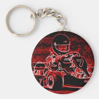 ¡El niño Karts está candente! Llavero Redondo Tipo Pin