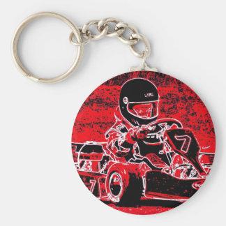 ¡El niño Karts está candente rojo! Llaveros Personalizados