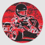 ¡El niño Karts está candente rojo! Pegatinas Redondas