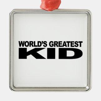El niño más grande del mundo ornamento de reyes magos