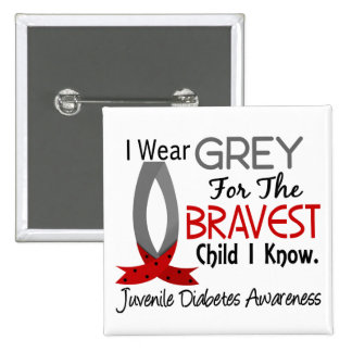 El niño más valiente sé la diabetes juvenil pin cuadrada 5 cm