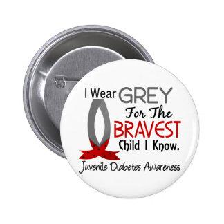 El niño más valiente sé la diabetes juvenil pin redondo de 2 pulgadas