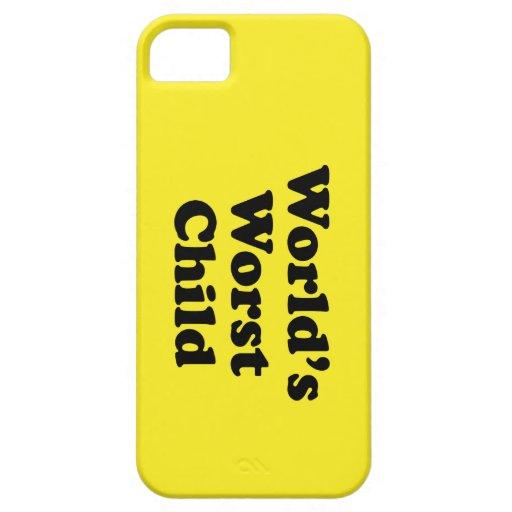 El niño peor del mundo iPhone 5 Case-Mate fundas