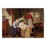 El niño recién nacido tarjeta de felicitación