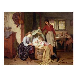El niño recién nacido postales