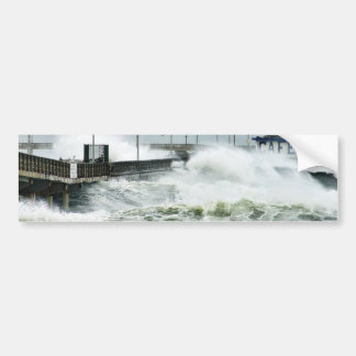 El Nino Waves Car Bumper Sticker