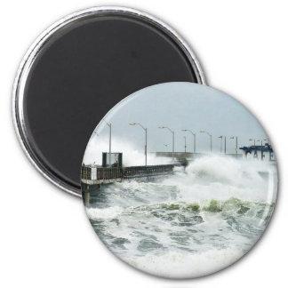 El Nino Waves Fridge Magnet