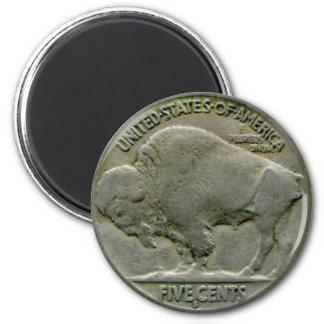 """El níquel del """"búfalo"""" de los 1936 E.E.U.U. ata el Imán Redondo 5 Cm"""