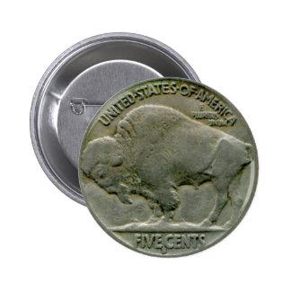 """El níquel del """"búfalo"""" de los 1936 E.E.U.U. ata el Pins"""