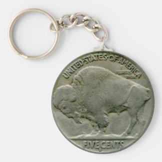 """El níquel del """"búfalo"""" de los 1936 E.E.U.U. ata ll Llavero"""