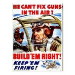 Él no puede fijar los armas en el aire postal
